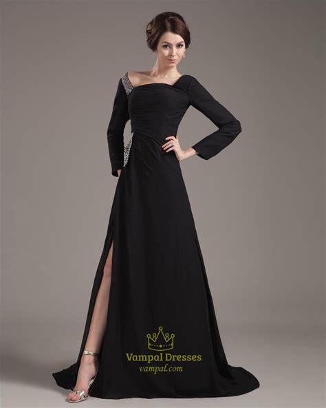 black evening dresses  sleeves kzdress