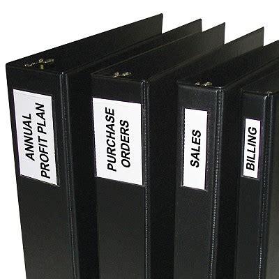 Free 2 3 Inch Binder Label Holder Printer Template Self Adhesive Binder Labels 2 1 4 X 3 1 16 12 Pk 70023