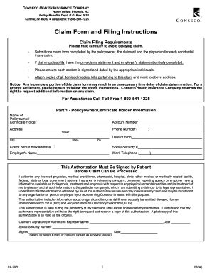 Conseco life insurance death claim form - Fill Out and