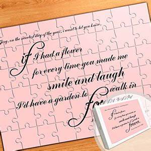 large personalized message puzzle love letters With personalized love letters