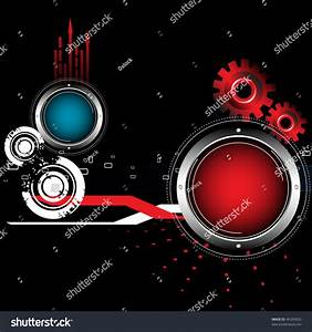 Abstract Colorful Background Red Gears Colored Stock ...