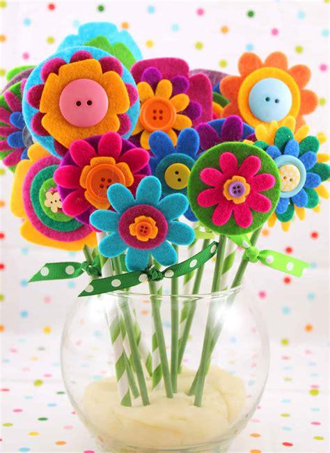 flower power cute floral kids crafts  spring summer