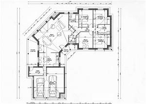 plan maison en v plain pied evtod With plan de maison 100m2 1 plan maison 100 m178 en v de plain pied ooreka