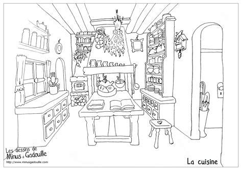 dessin de cuisine cuisine 36 bâtiments et architecture coloriages à