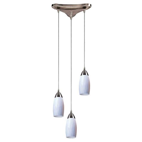 titan lighting milan 3 light satin nickel ceiling pendant