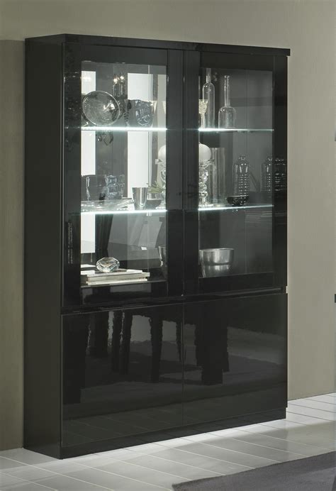 vitrine cuisine vitrine design 2 portes laquée solene vitrine