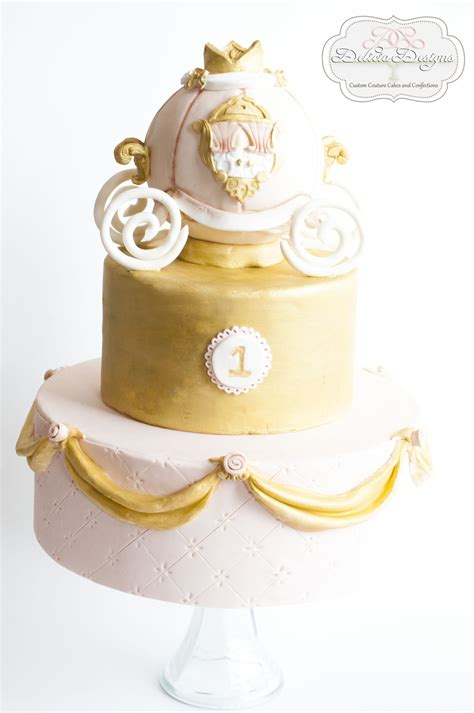 pink and gold l princess pink gold carriage 1st birthday cake