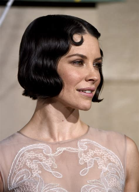 evangeline lilly retro waves  vintage hairstyles