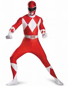 Power Ranger Red Ranger Adult Muscle Suit Halloween ...