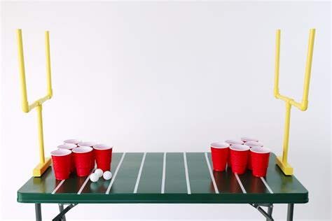 shot   diy football themed beer pong evite