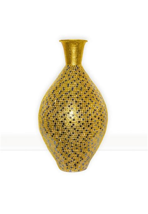 decorative floor vases buy 30 quot seketa regent gold surahi jug vase glass mosaic