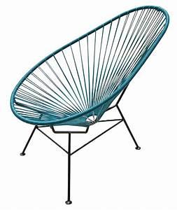 Fauteuil Bas Acapulco Bleu Ptrole OK Design Pour Sentou