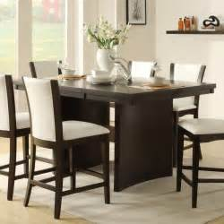 counter high tables contemporary dining room design with