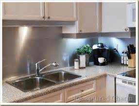 aluminum backsplash kitchen 4 functional diy stainless steel kitchen backsplashes shelterness