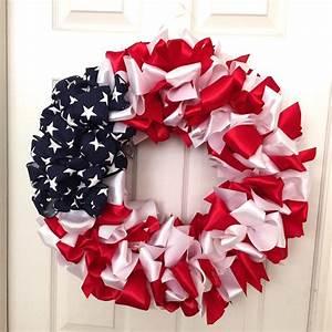 DIY Patriotic Ribbon Wreath   Beautiful, Love this and Search