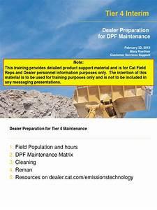 Dpf Maintenance Sept 11 2013 Updated 2
