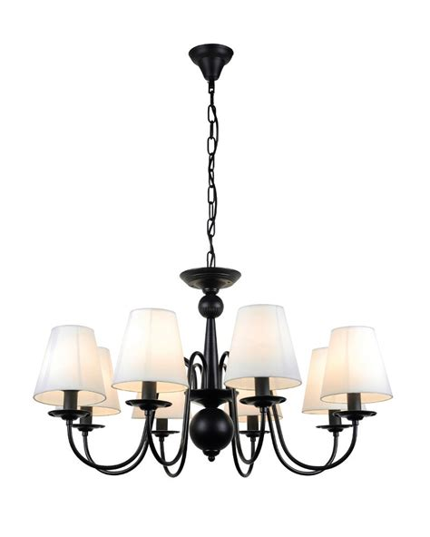 Chandelier With Black Shade And Drops by 25 Best Collection Of Chandeliers With Black Shades