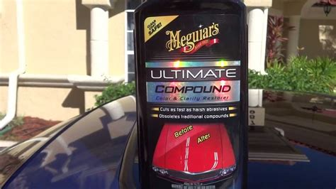 meguiars ultimate compound meguiars ultimate compound review and test results before and after on my 2001 honda prelude