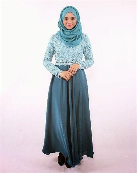 Wanita Hamil Berhijab 20 Contoh Baju Gamis Muslim Brokat Terbaru 2018