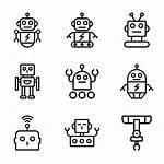 Robot Icon Clip Transparent Retro Drawing Iconos