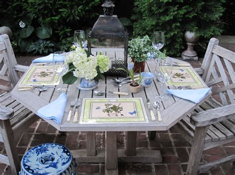 hexagon patio table chairs exteriors