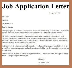 sle application letter vitae