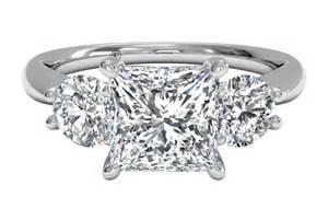 engagement rings houston three princess cut engagement ring ritani