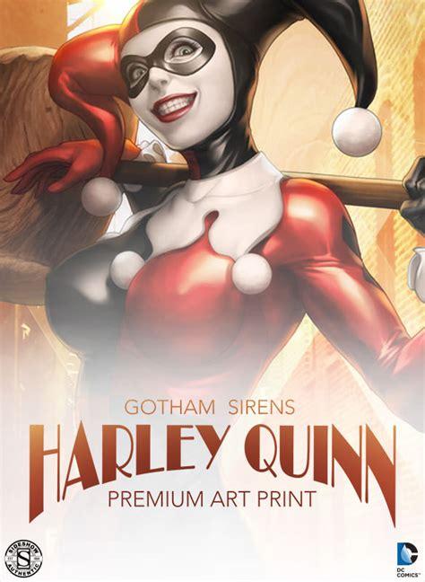 dc comics gotham sirens harley quinn premium art print