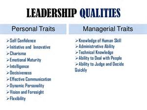 Leadership Qualities and Traits