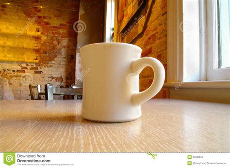 coffee mug  table royalty  stock image image