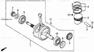 Honda Motorcycle 1980 Oem Parts Diagram For Crankshaft