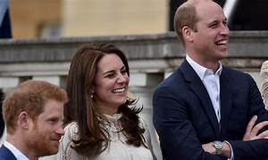 Kate, William and Harry treat children to charming Palace ...