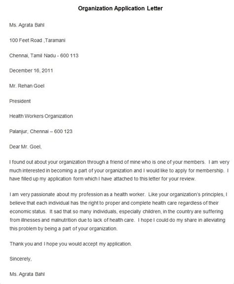 Format For An Application by 95 Best Free Application Letter Templates Sles Pdf