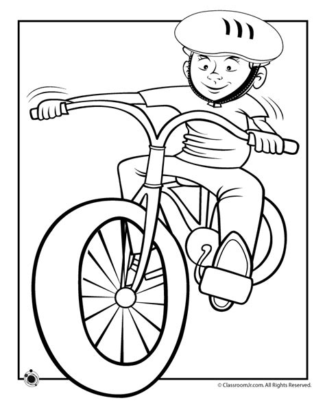 Bicycle Coloring Pages To Download And Print For Free