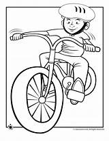 Coloring Bike Riding Boy Pages Helmet Cycling Cartoon Bicycle Printable Spring Drawing Clipart Dirt Colouring Bikes Cliparts Boys Fall Library sketch template
