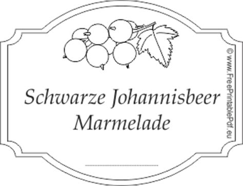 schwarze johannisbeer marmelade etiketten drucken