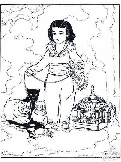 Goya Coloring Pages Famous Painter Paintings Francisco
