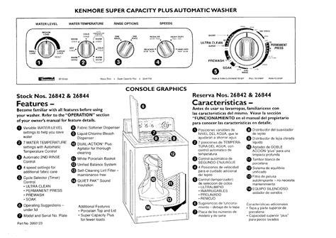 diagram kenmore washer model 110 diagram