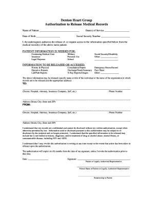 editable medical records request form template fill