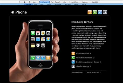is the iphone explore apple s website from the day it unveiled the