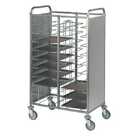chariot cuisine inox carro de transporte de bandejas universal de 2x12 níveis