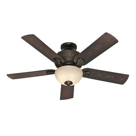 black outdoor ceiling fan shop hunter gulf winds outdoor 52 in mystique black
