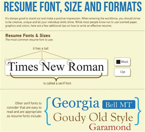 Font And Size For Resume by Best 20 Resume Fonts Ideas On Resume Ideas