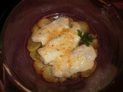 merluza  patatas  mayonesa al horno receta facil