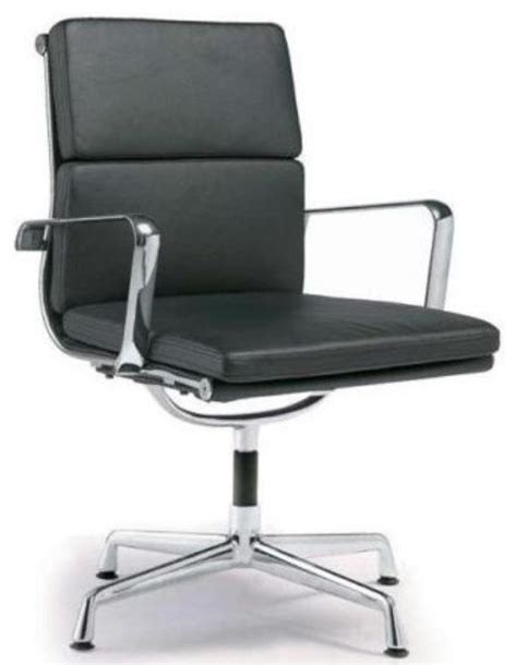 director soft pad office chair with no wheels black