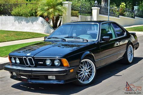 Bmw E24 M6 by 1987 Bmw M6 E24 74k Original California Car