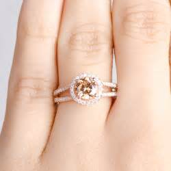 gold halo engagement ring ariane 39 s gold engagement ring chagne cz with halo