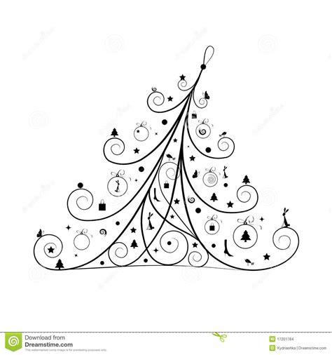 silueta de árbol de navidad decoraci 243 n 225 rbol de navidad silueta imagenes de archivo imagen 17201784