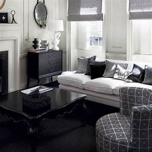 black and white living room design and ideas With black and white living room decor