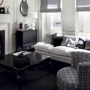 21, Creative, U0026inspiring, Black, And, White, Traditional, Living, Room, Designs